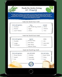 Foods for Active Living Shopping List - Origin